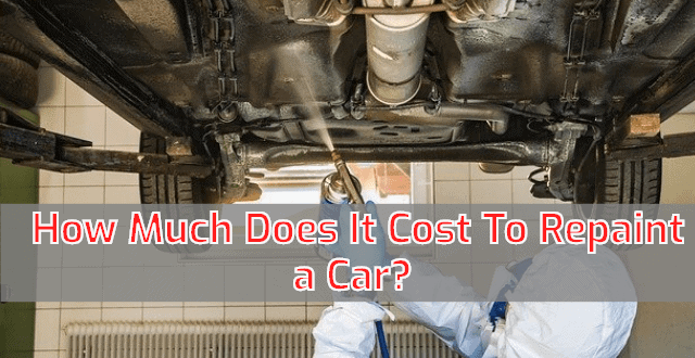 How Much Does It Cost To Repaint a Car
